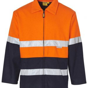 Aiw Mens Hi-Vis Two-Tone Bluey Jacket - Orange/Navy