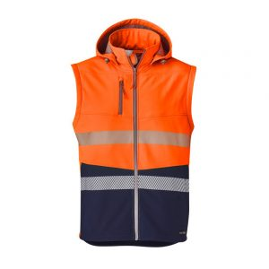 Syzmik Unisex 2 In 1 Stretch Softshell Taped Jacket - Orange