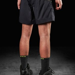 FXD WS-4 Repreve Stretch Elastic Waist Work Short Black